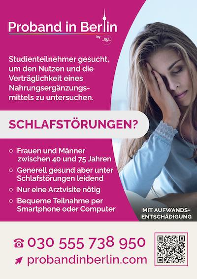 Poster Schlafstudie